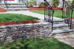 Retaining wall, walkway design and installation