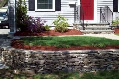 Retaining wall, walkway